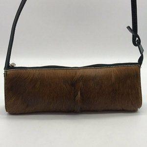 Furla Brown Pony Hair Shoulder Bag